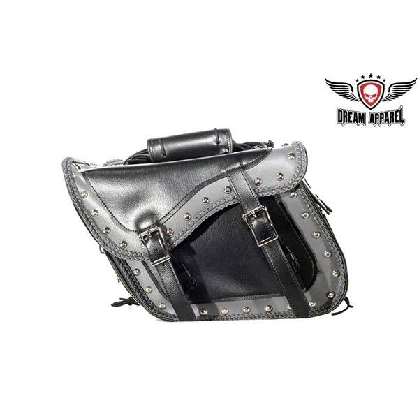 Chrome Plate PVC Motorcycle Saddlebag