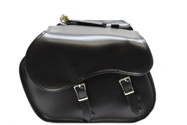 Buckle PVC Motorcycle Saddle Bags