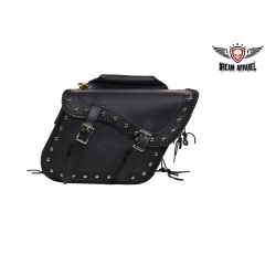 Slanted PVC Motorcycle Saddle Bag