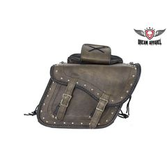 Genuine Brown Leather Concealed Carry Saddlebag