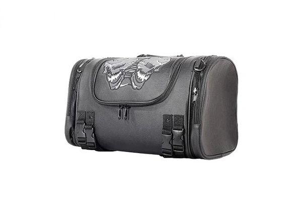 Medium Motorcycle Sissy Bar Bag Trunk With Skull