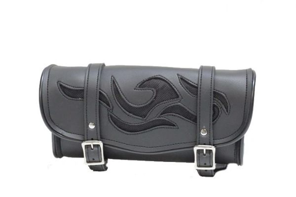 12 Inch Motorcycle Tool Bag with Flames