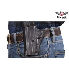 Motorcycle left side Black Gun Holster