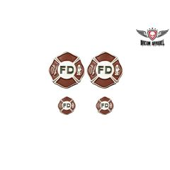 Fire Dept Saddle Bag Pin set
