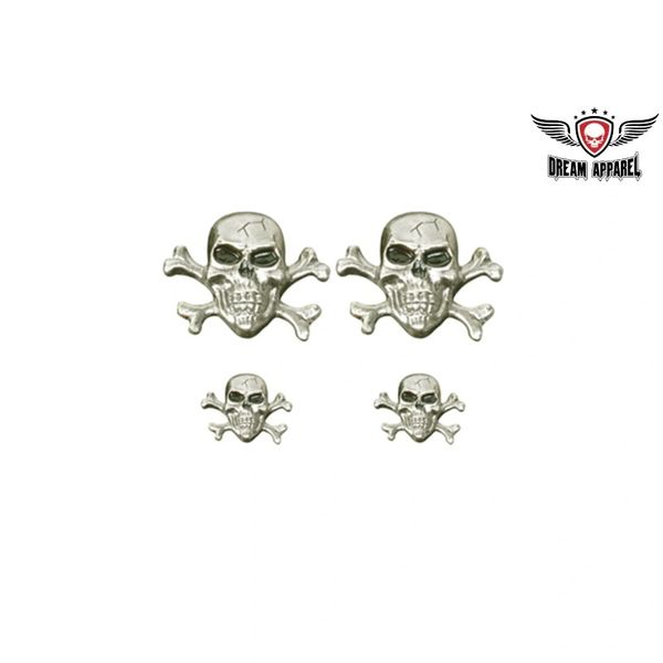Skull n Crossbones Saddle Bag Pin set