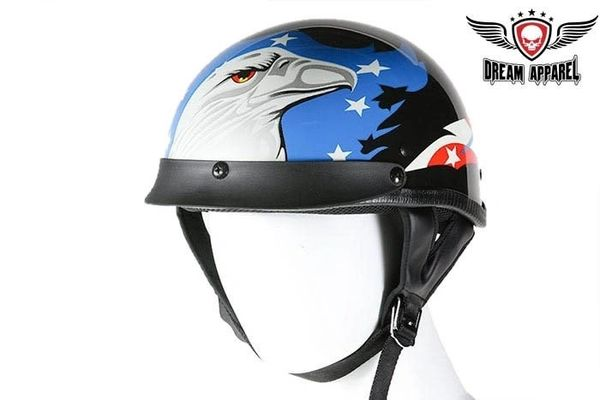 DOT Motorcycle Helmet With Eagle Graphic