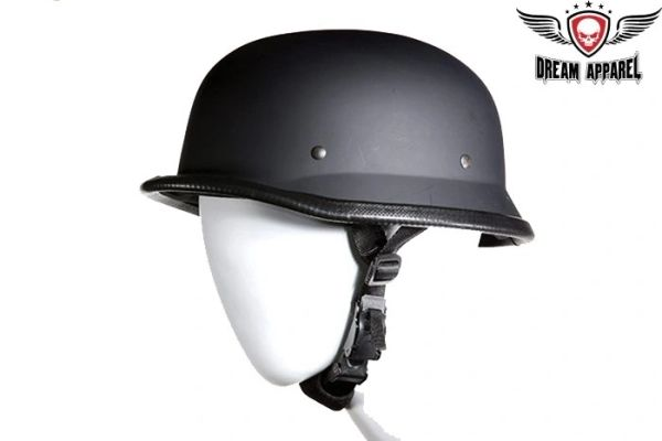 German Novelty Flat Black Helmet