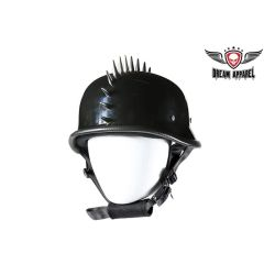 Glossy German Novelty Helmet With Spikes