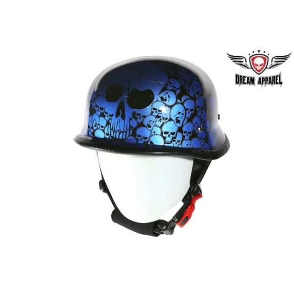 Blue Skull Graveyard German Novelty Helmet