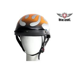 Chrome Flame DOT Motorcycle Helmet