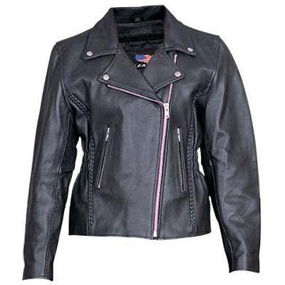 AL2130-Womens Motorcycle Jacket