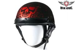 Boneyard Burgundy DOT Approved Biker Helmet
