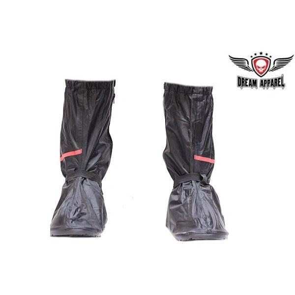 Biker Boot Rain Cover with reflective stripe