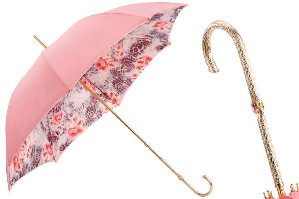 Pasotti Luxury Pink Marquise Umbrella - Double layer Canopy