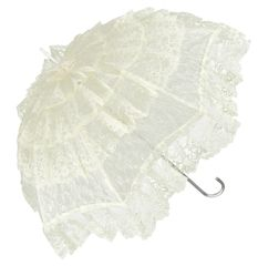 French Cancan - Cream Lace Parasol