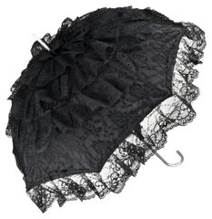 French Cancan - Black Lace Parasol