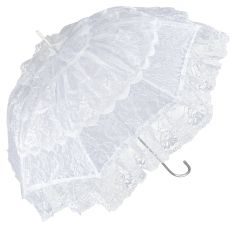 French Cancan - White Lace Parasol
