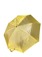 COMPACT IRIDESCENT UMBRELLA - WATERPROOF YELLOW