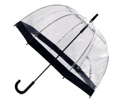 "Clear PVC Umbrella 35"" - Black Trim"