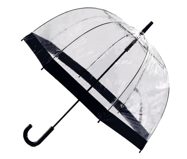 "Clear Dome - PVC Bubble Umbrella 35"" - Black Trim"
