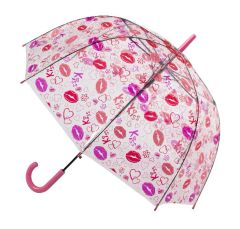 Clear Lips And Kisses PVC Umbrella 32""
