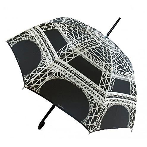 Guy de Jean - Eiffel Tower Black Umbrella- Luxury - Handmade In France