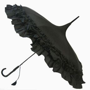 Frilly Black Pagoda - Waterproof