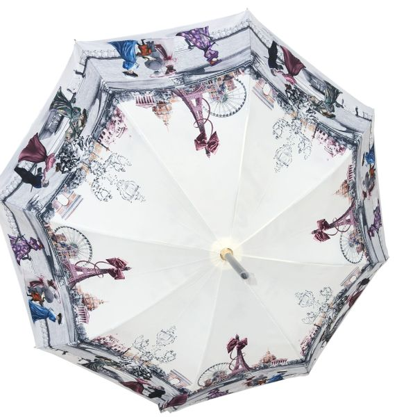 Sold - Guy de Jean - Paris 1900 Theme Umbrella - Luxury - Handmade In France