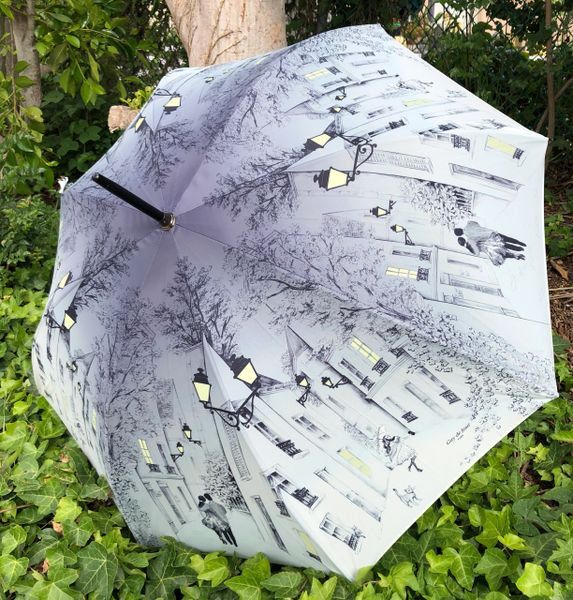 Guy de Jean - Lovers At Night Umbrella - Luxury - Handmade In France