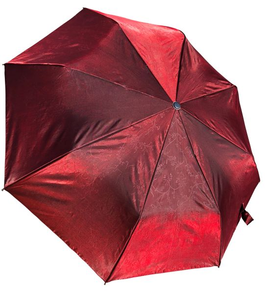 COMPACT IRIDESCENT UMBRELLA - WATERPROOF BURGUNDY