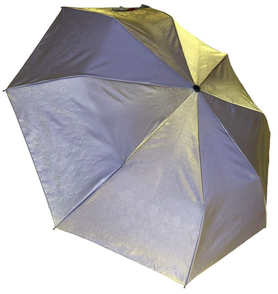 COMPACT IRIDESCENT UMBRELLA - WATERPROOF LAVENDER/YELLOW
