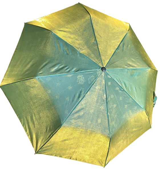 COMPACT IRIDESCENT UMBRELLA - WATERPROOF GREEN