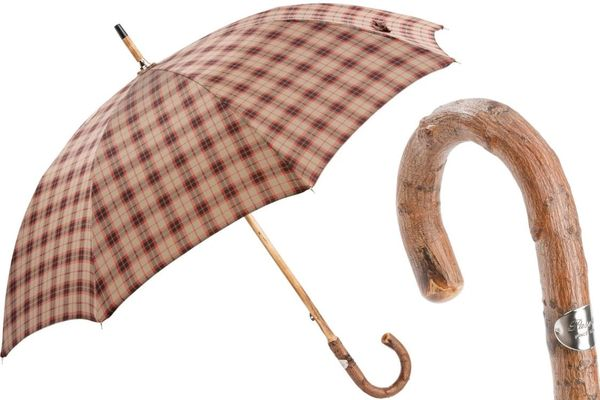Luxury Italian Umbrella - Handmade In Italy - Bespoke Solid Stick Umbrella