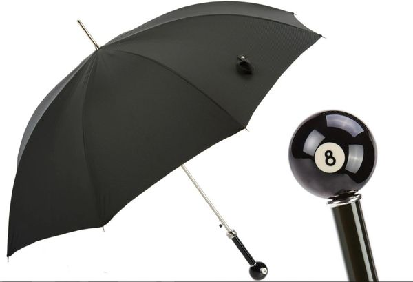 Luxury Italian Umbrella - Handmade In Italy - Billiard Pool 8-Ball