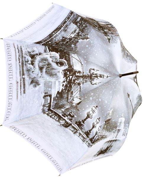 Jean Paul Gaultier - Paris Under The Snow - Luxury Umbrella Handmade In France