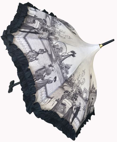 Guy de Jean Umbrella - Paris 1900s Theme - Luxury All Weather - Handmade In France