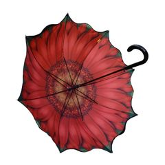 Stick Style Umbrella/Parasol - Double layer - Orange sunflower design inside