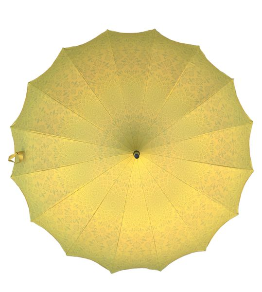 Waterproof + Real Anti-UV - Blackout lining - Pagoda style umbrella - Yellow design