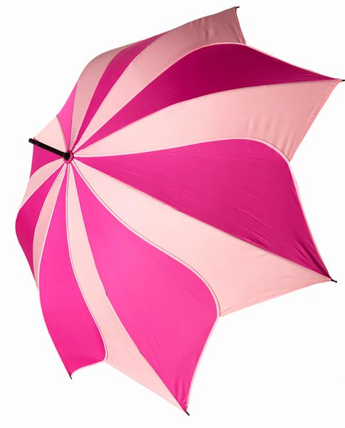 Two Tone Pink Swirl Umbrella/Parasol - Waterproof