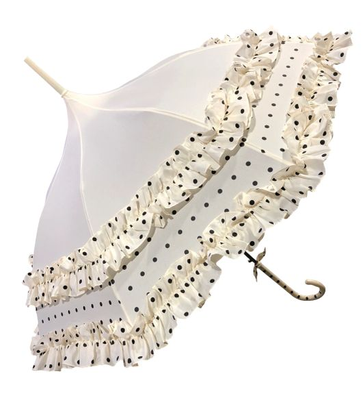 Polka Dots And Frills Umbrella - Waterproof