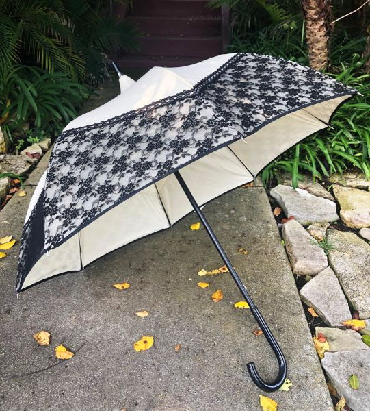 55% off - Promenade By Chantal Thomass - Handmade French - Waterproof And UV Protection - Display Umbrella - Final sale