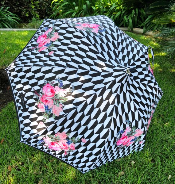 SOLD - 50% off - Damier By Chantal Thomass - Handmade French SPF50 - Display Umbrella - Final sale