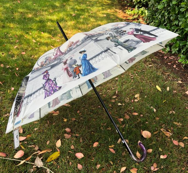 15% off - Paris 1900 Theme By Guy de Jean - Handmade French - Display Umbrella - Final sale