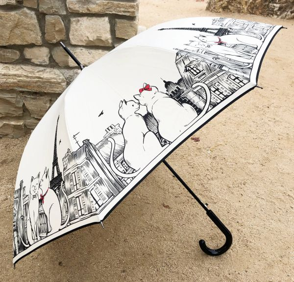 SOLD - 15% off - Caline by Guy de Jean - Handmade Luxury French - Display Umbrella - Final sale