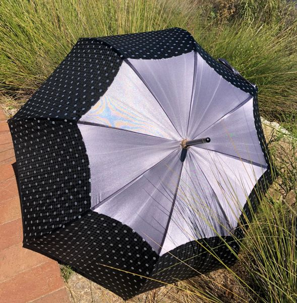 35% - Satin By Guy de Jean - Handmade Luxury French - Display Umbrella - Waterproof And UV Protection - Final sale
