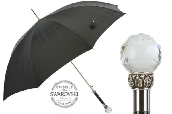 30% off - Man Lux Swarovski By Pasotti Ombrelli - Handmade Luxury Italian - Display Umbrella - Final sale