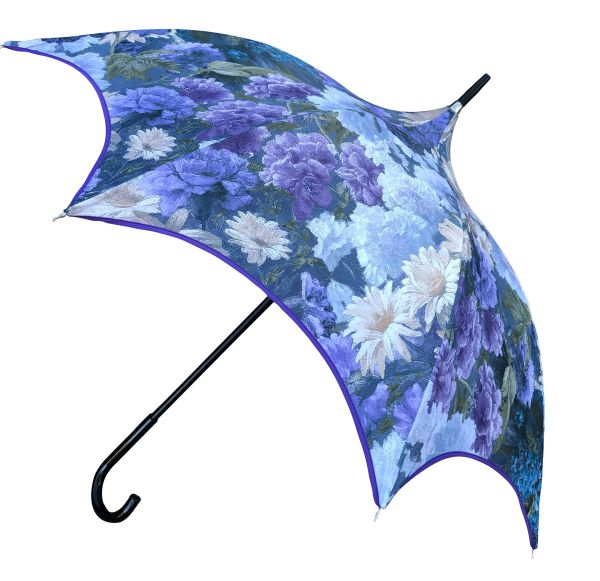 15% off - Charm In Blue by Guy de Jean - Handmade French Luxury - Display Umbrella - Final sale