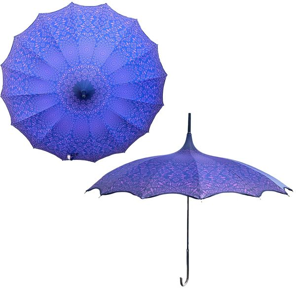 Promotion buy 1 and get 2nd one at 20% off - Anti UV umbrellas And Waterproof - Set of 2 purple umbrellas