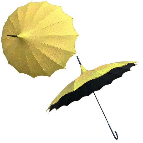 Promotion buy 1 and get 2nd one at 20% off - Anti UV umbrellas And Waterproof - Set of 2 yellow umbrellas