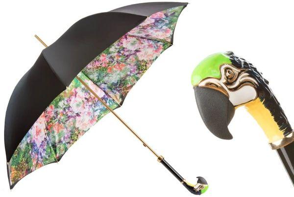 Pasotti Luxury parrot umbrella - Double layer Canopy